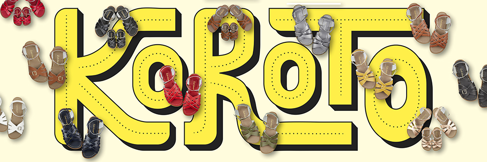 Logo de Koroto con los modelos Original, Classic, Retro de Salt Water Sandals